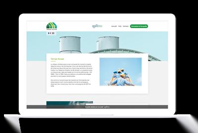 page web dédiée à la communication